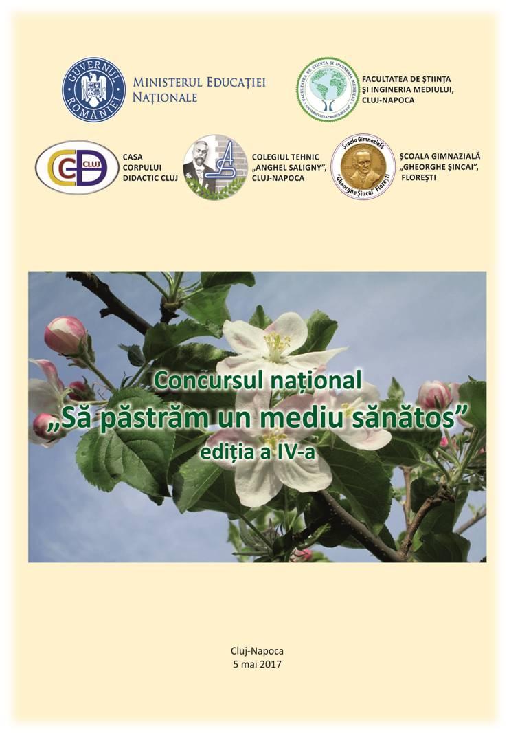 Concursul national Să păstrăm un mediu sănătos